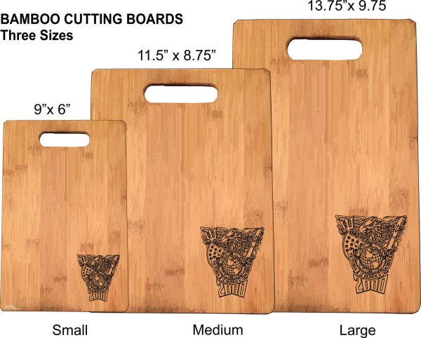 Engraved Bamboo Cutting Board in 3 sizes
