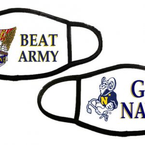 Beat Army Go Navy Face Masks