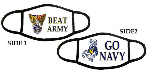 Beat Army Go Navy Face Masks