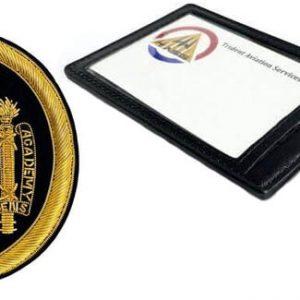 USNA Logo Patch and Holder Set
